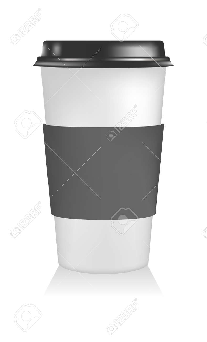 Plastic Coffee Cup Templates Paper To Go Stock Photo