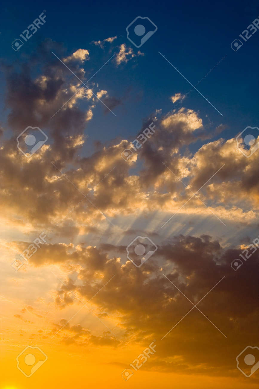 beautiful sunset over the ocean Stock Photo - 776435