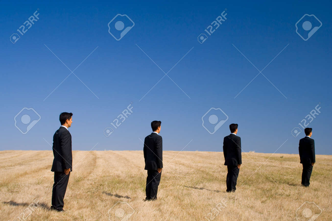 businessmens follow a path to the future Stock Photo - 1622451