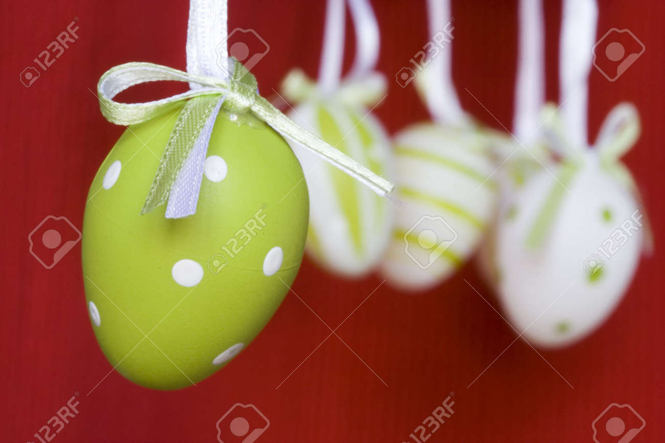 Colorful easter eggs for backgrounds (selective and soft focus) Stock Photo - 2672409