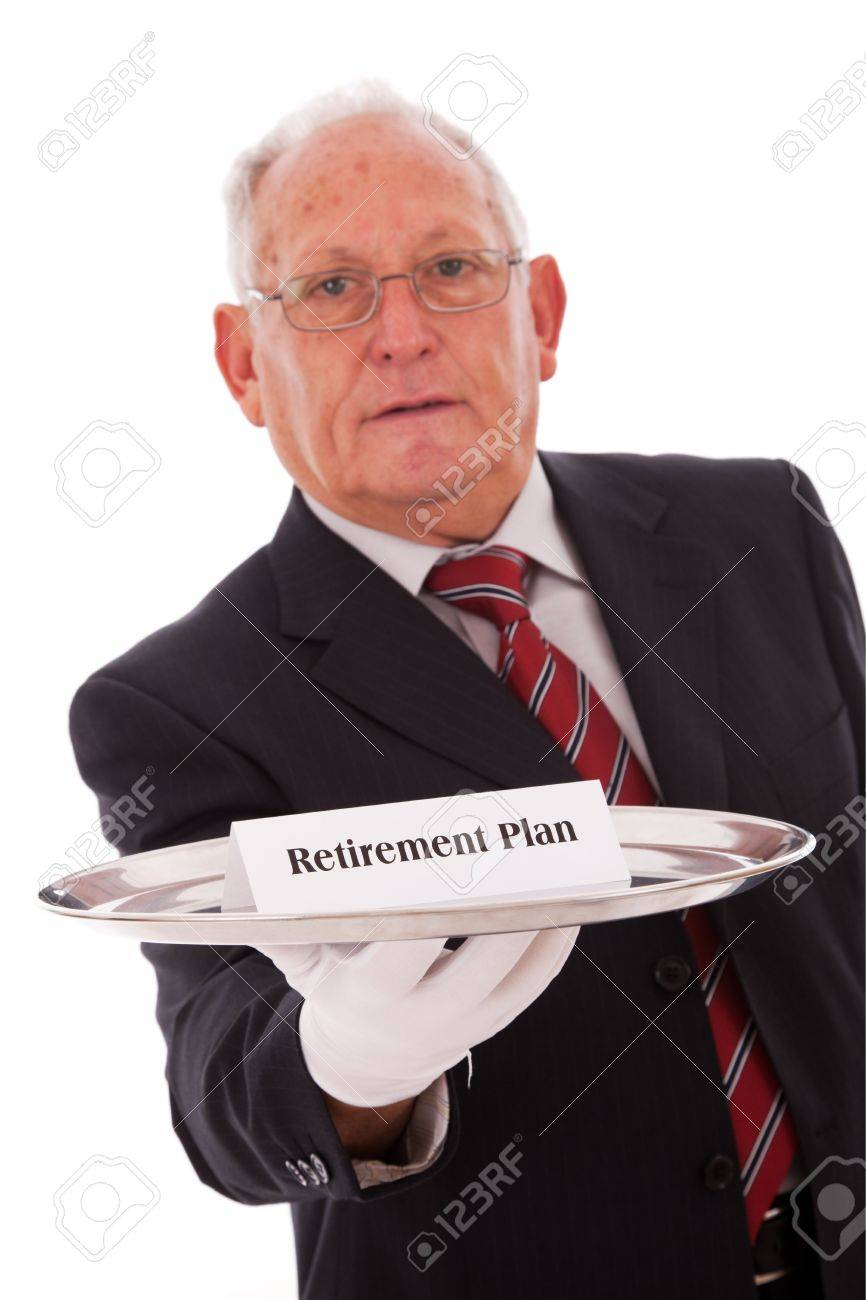 Senior businessman offering you the best solution for a retirement plan Stock Photo - 5978928