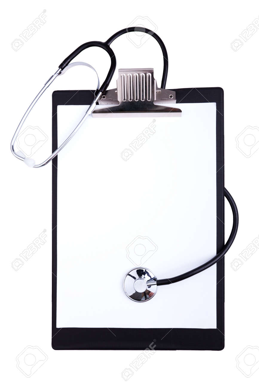 empty medical clipboard isolated on a white background Stock Photo - 6326965