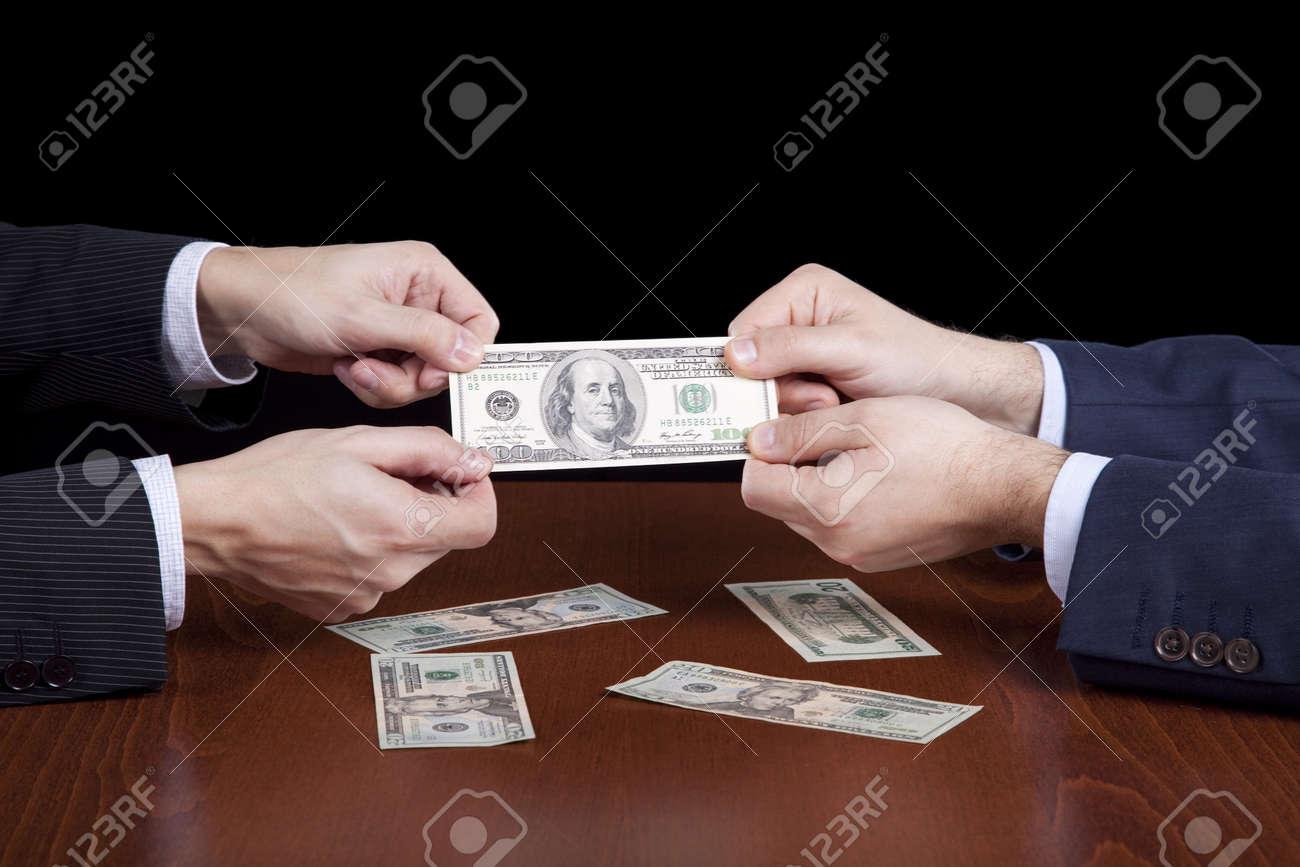 businessman giving money Stock Photo - 6954004