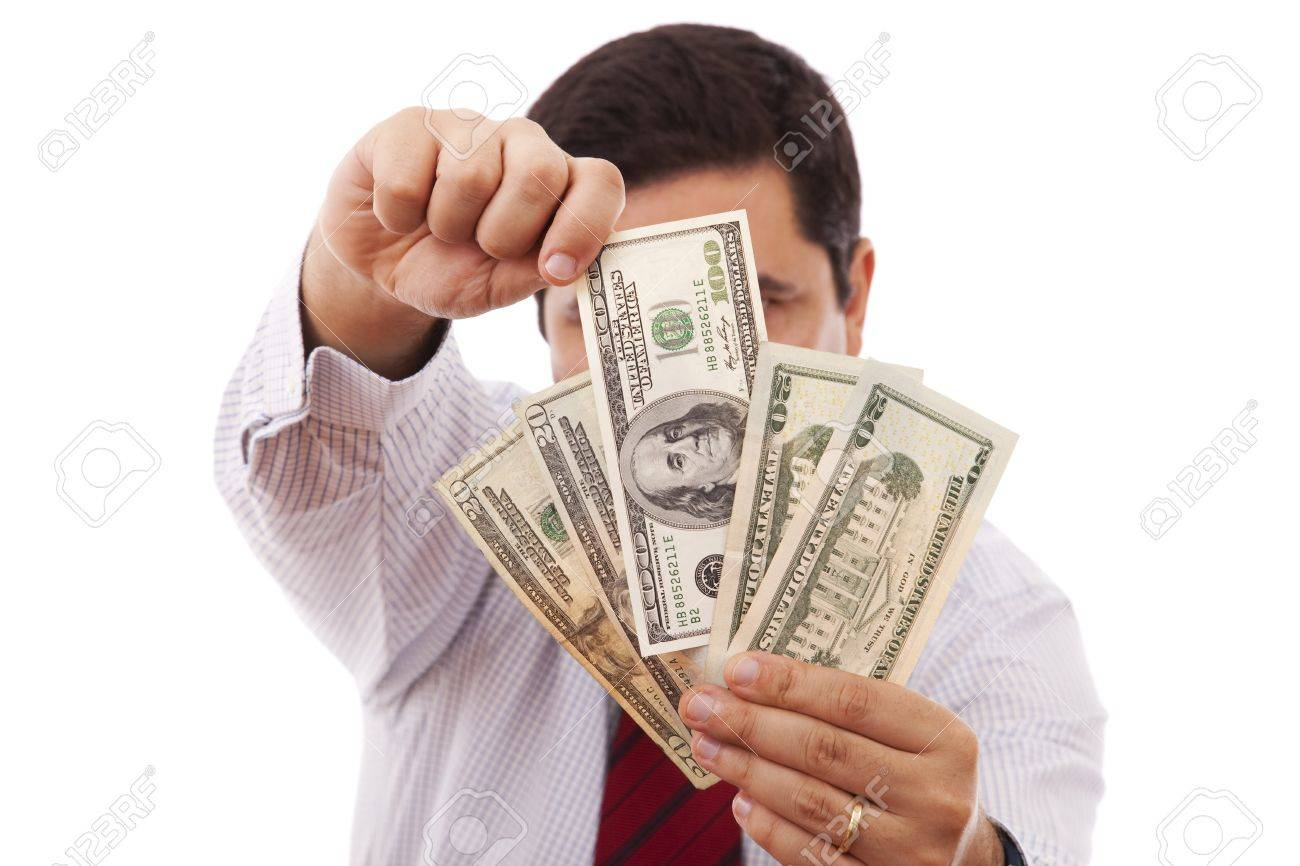 businessman at the office giving money Stock Photo - 6954347