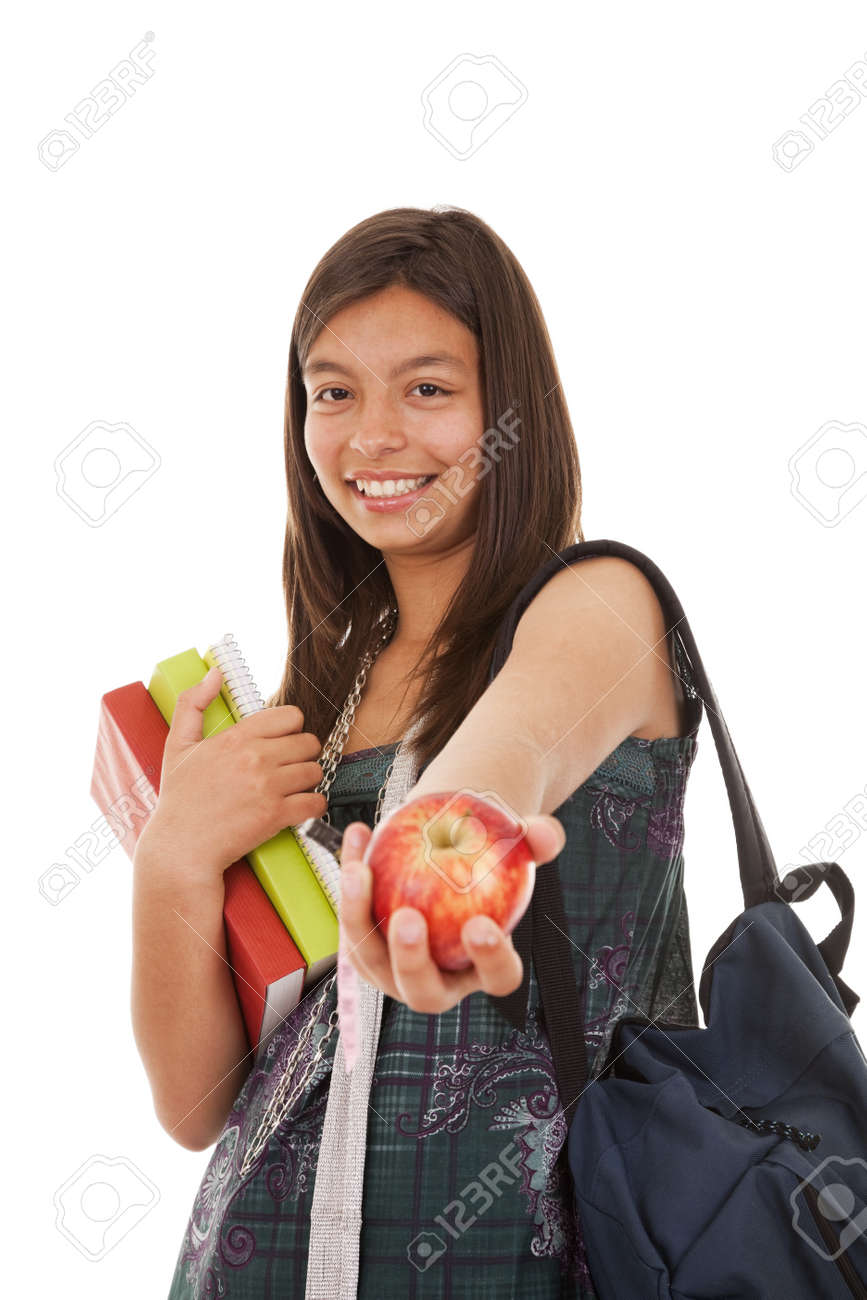 Teenager ready to go back to school (selective focus) Stock Photo - 7812156
