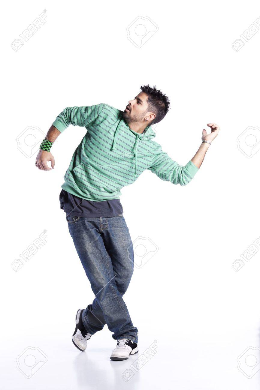 Hip hop dancer showing some movements - 9284708