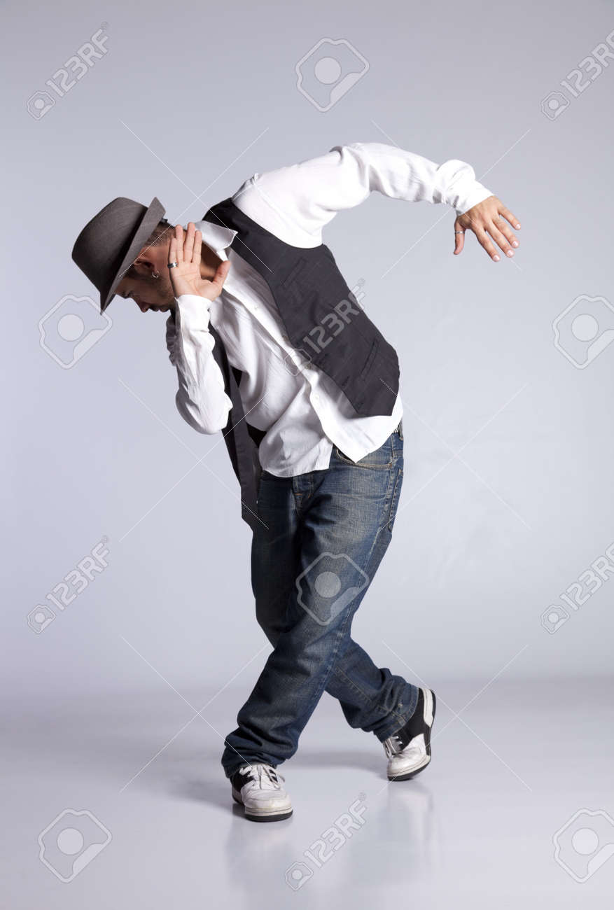 Hip hop dancer showing some movements - 10029692