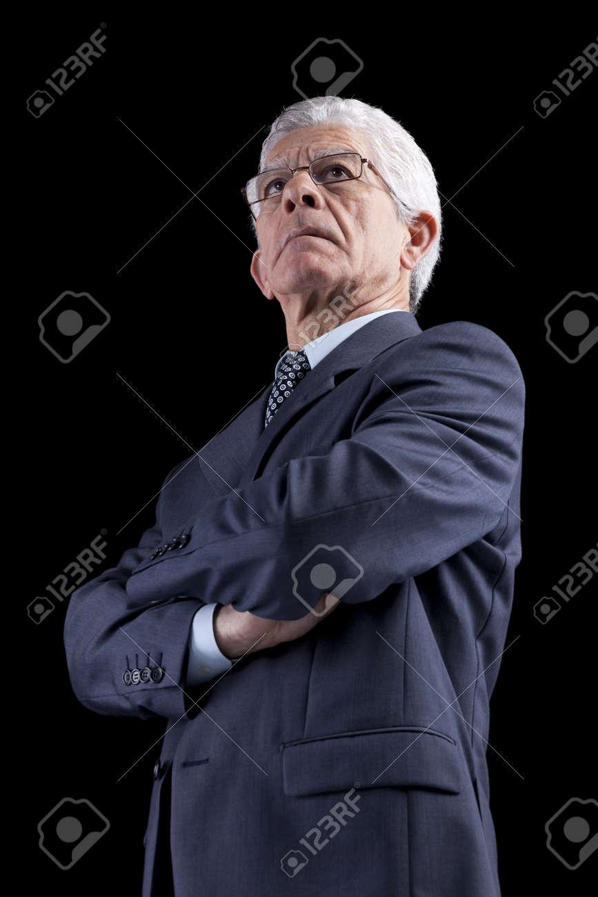Powerful businessman portrait (isolated on black) Stock Photo - 10029798