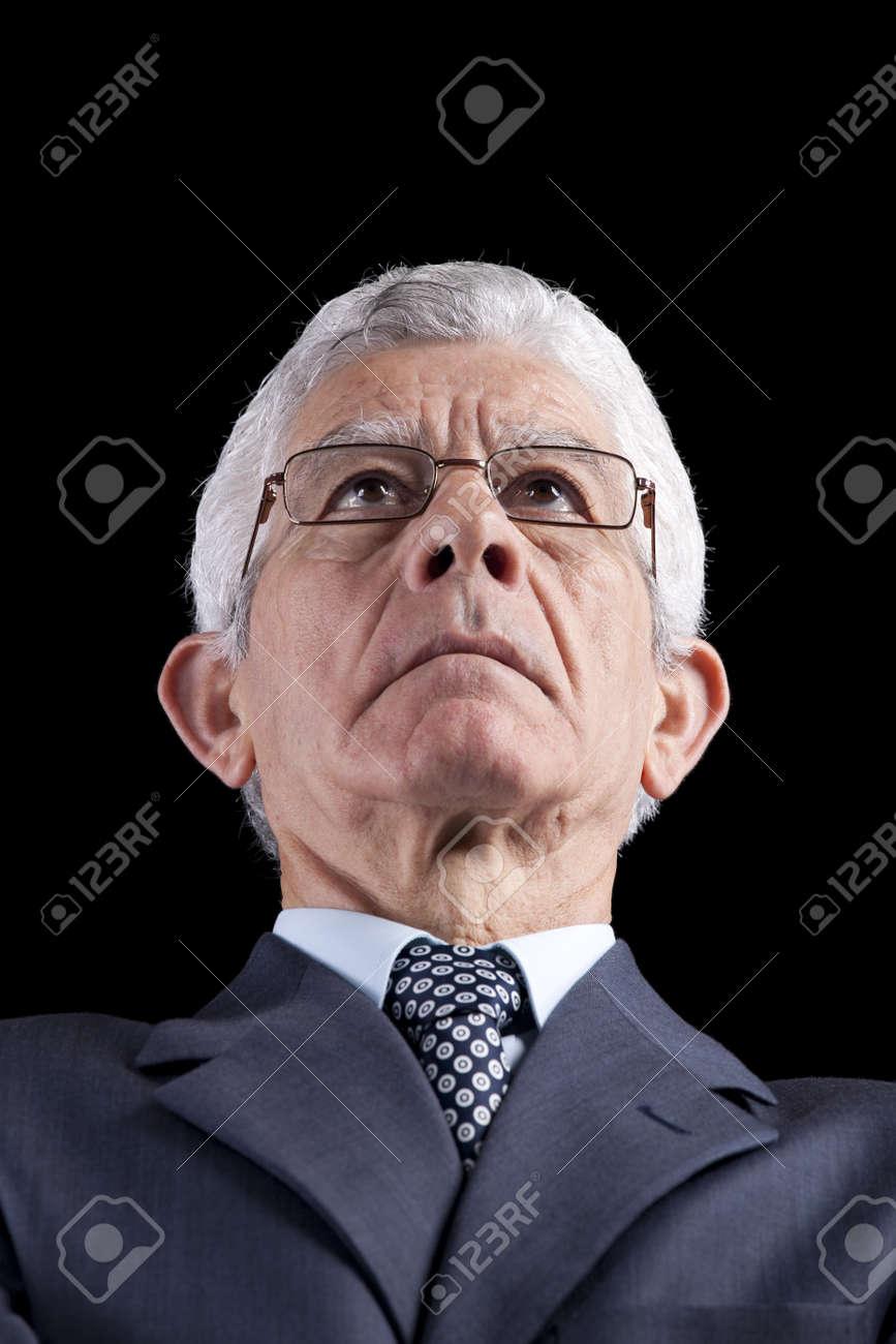 Powerful businessman portrait (isolated on black) Stock Photo - 10030076