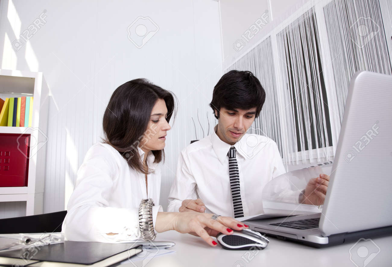 Modern team working at the office Stock Photo - 10048394