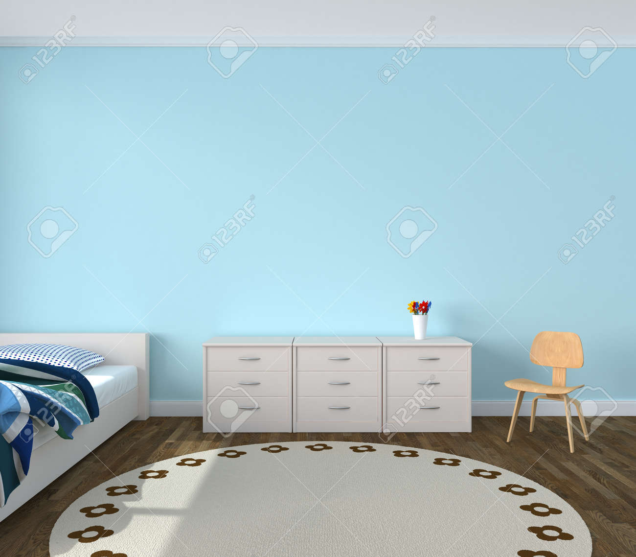 Kids Bedroom Wall Kidsroom Playroom Stock Photo Picture And Royalty Free Image