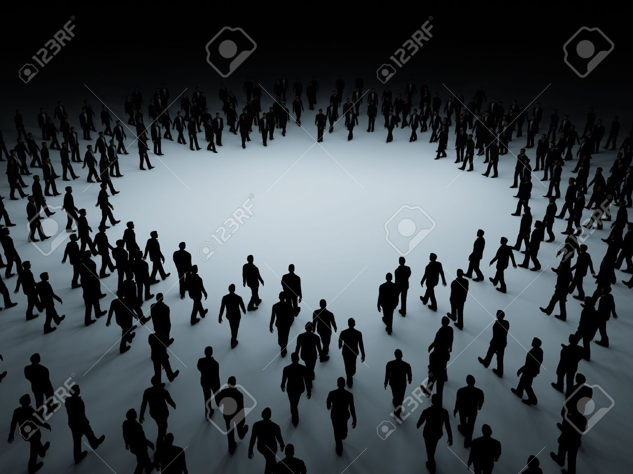 Large crowd of people - 16137390