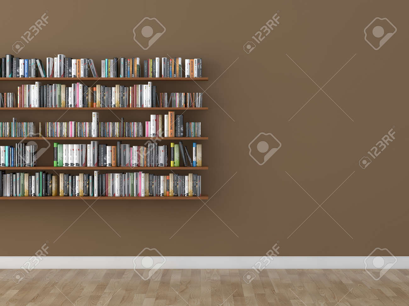 interior bookshelf room library Stock Photo