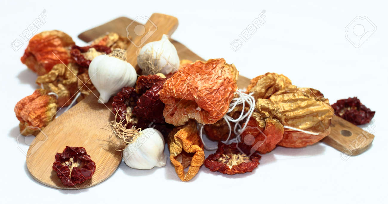 Dried bell peppers an tomatoes. Stock Photo - 6435490