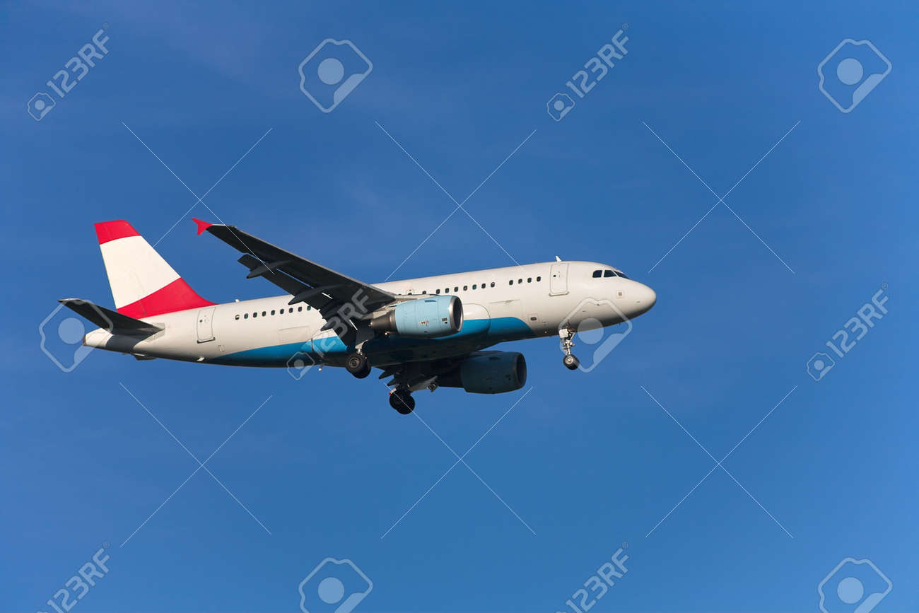 Photo of an airplane just before landing. Stock Photo - 1748081