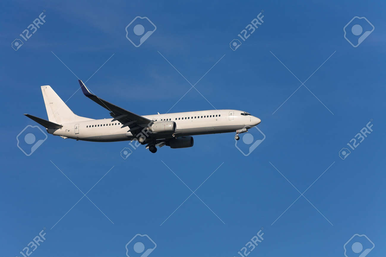 Photo of an airplane just before landing. Stock Photo - 1748076
