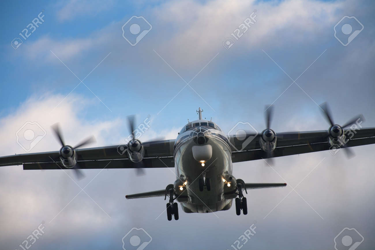 Photo of an airplane just before landing. Stock Photo - 2047500
