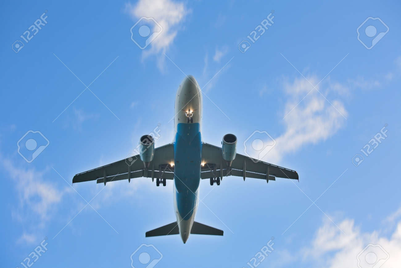 Photo of an airplane just before landing. Stock Photo - 2047493