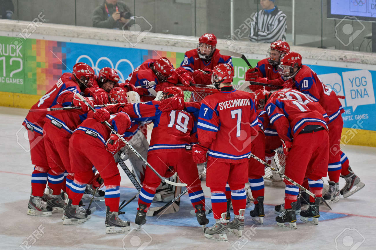 INNSBRUCK, AUSTRIA - JANUARY 20 Team Russia prepares for the