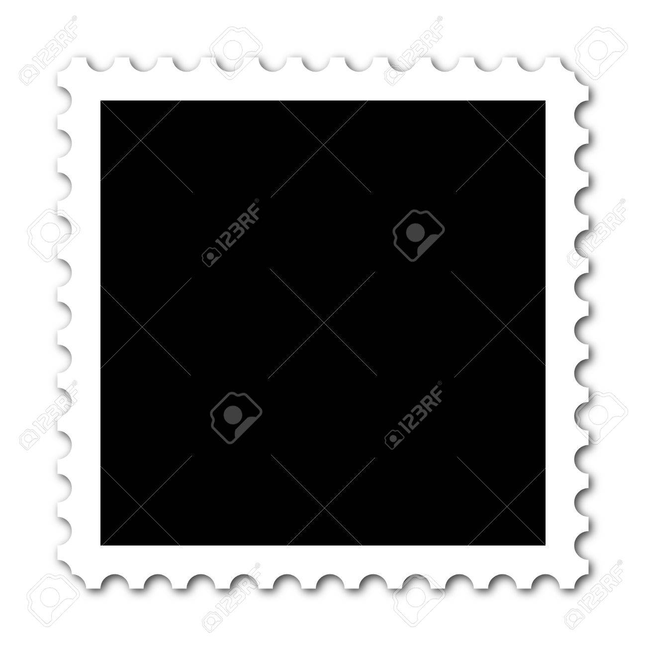 Square stamp with copy space on white background Stock Photo - 5077114