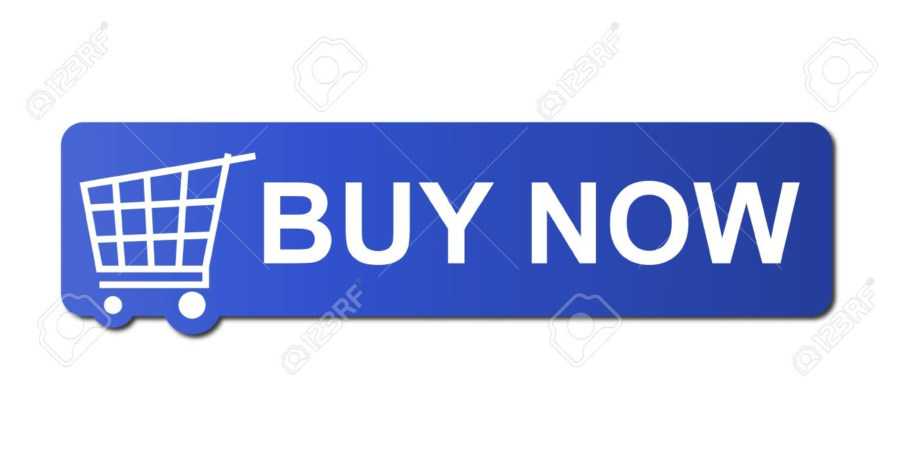 Buy now button with a shopping cart on white background. Stock Photo - 5097134