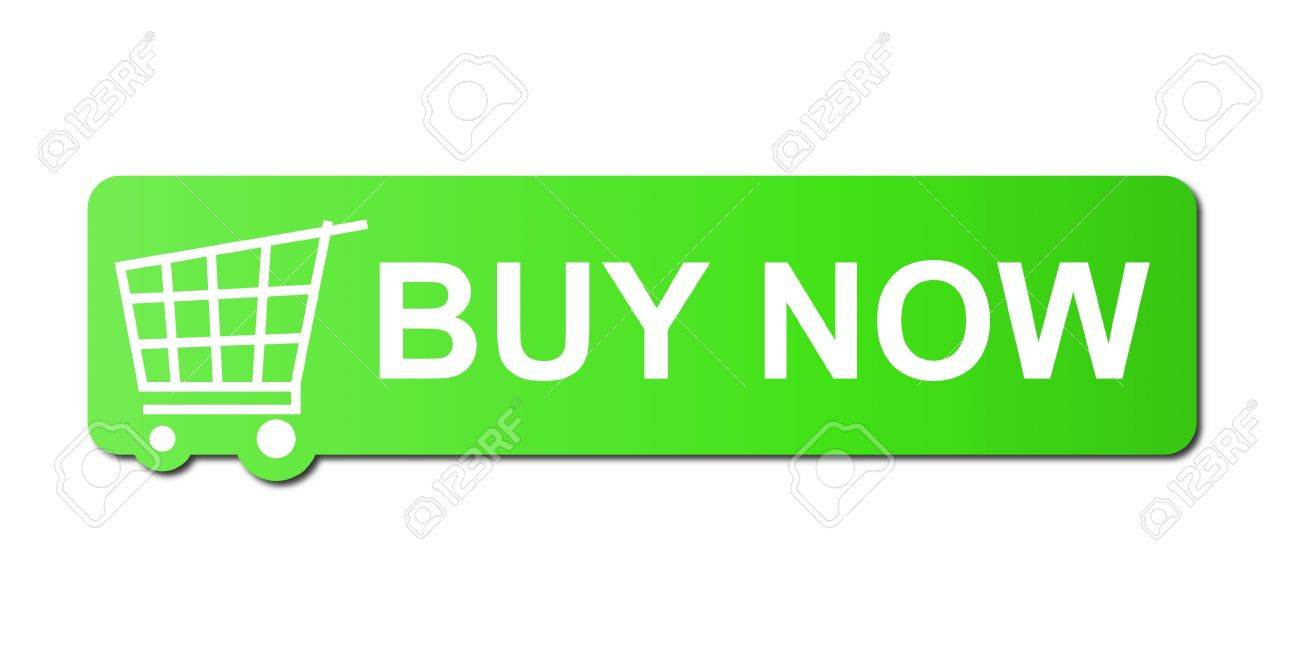 Buy now button with a shopping cart on white background. Stock Photo - 5178629