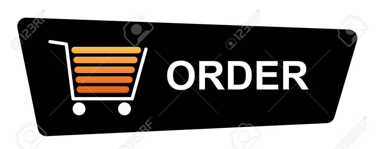 Buy now button with a shopping cart on white background. Stock Photo - 5782136
