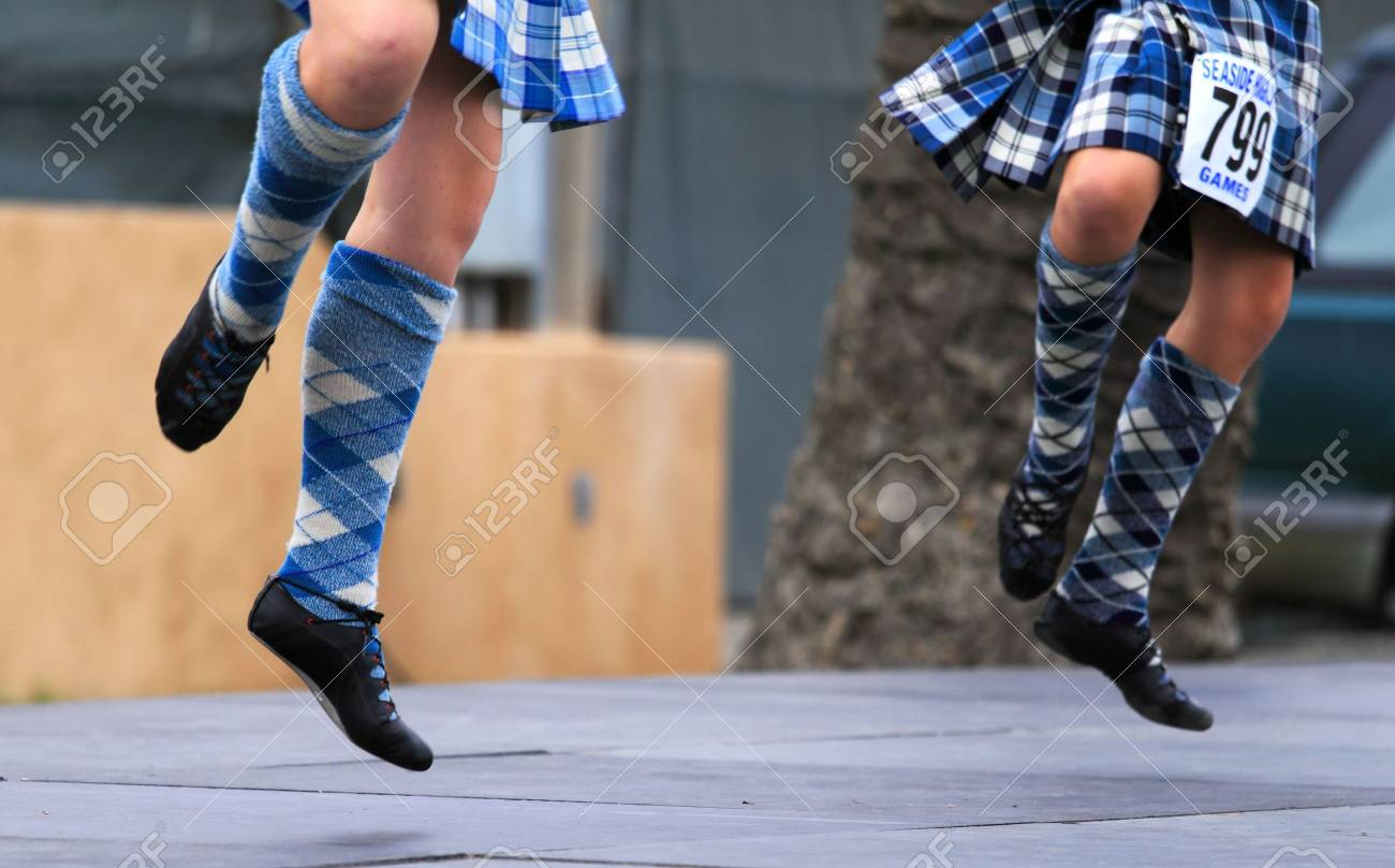EDITORIAL ONLY  VENTURA, CA, USA - October 11, 2009 - Girls performing at a dance competition at the Ventura Seaside Highland Games October 11, 2009 in Ventura, CA Where: Ventura, CA, USA Stock Photo - 6887733