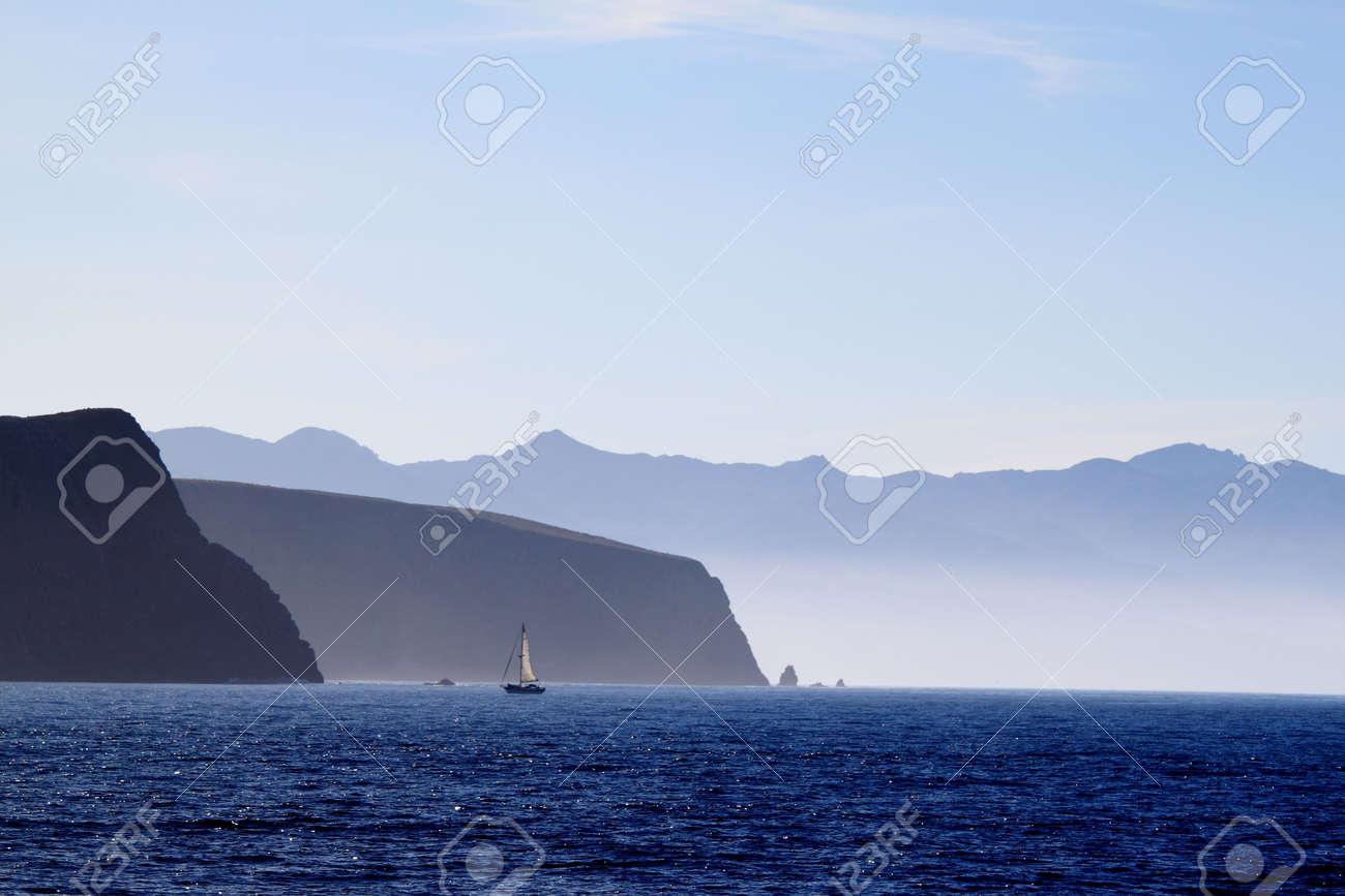 Santa Cruz Island of the cost from Ventura California Stock Photo - 6760224