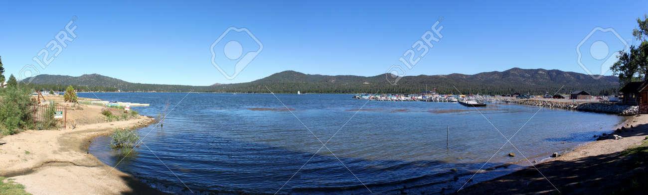 Panorama view of Big Bear Lake with blue sky. Stock Photo - 9514618