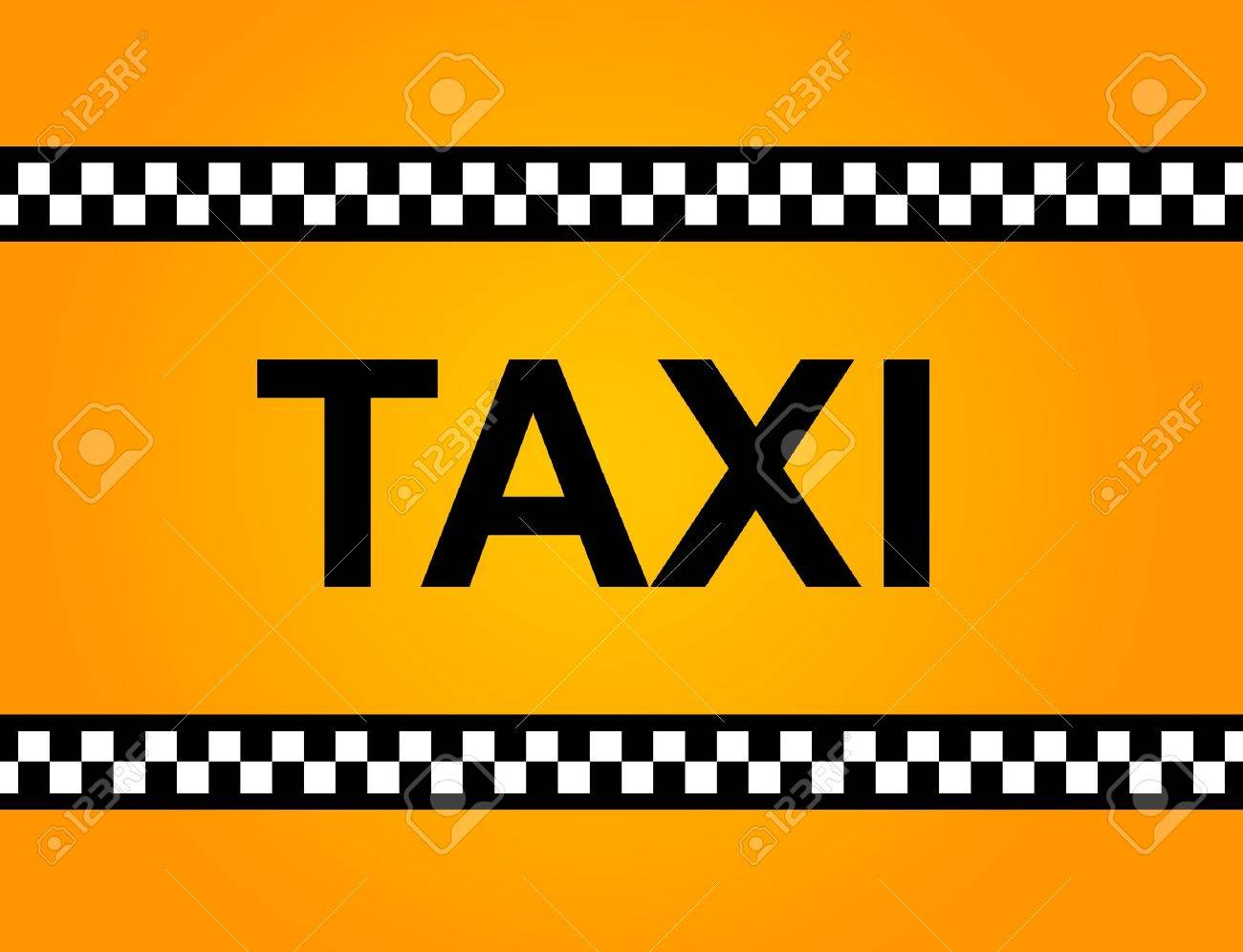 Background of a yellow taxi cab with text Stock Photo - 10493937