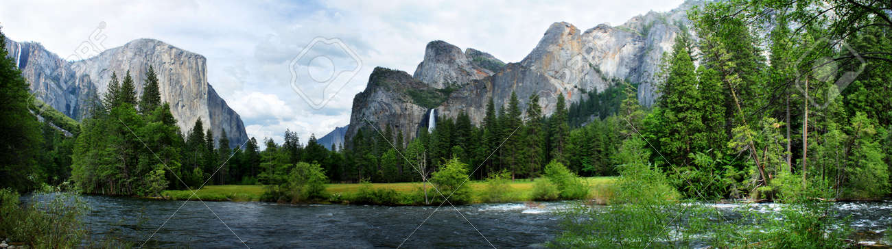 El Capitan View in Yosemite Nation Park with river in foreground Stock Photo - 11292960