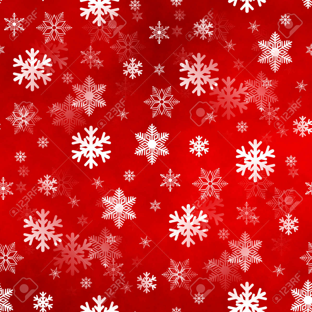 Christmas Snowflakes.Light Red Winter Christmas Snowflakes With A Seamless Pattern