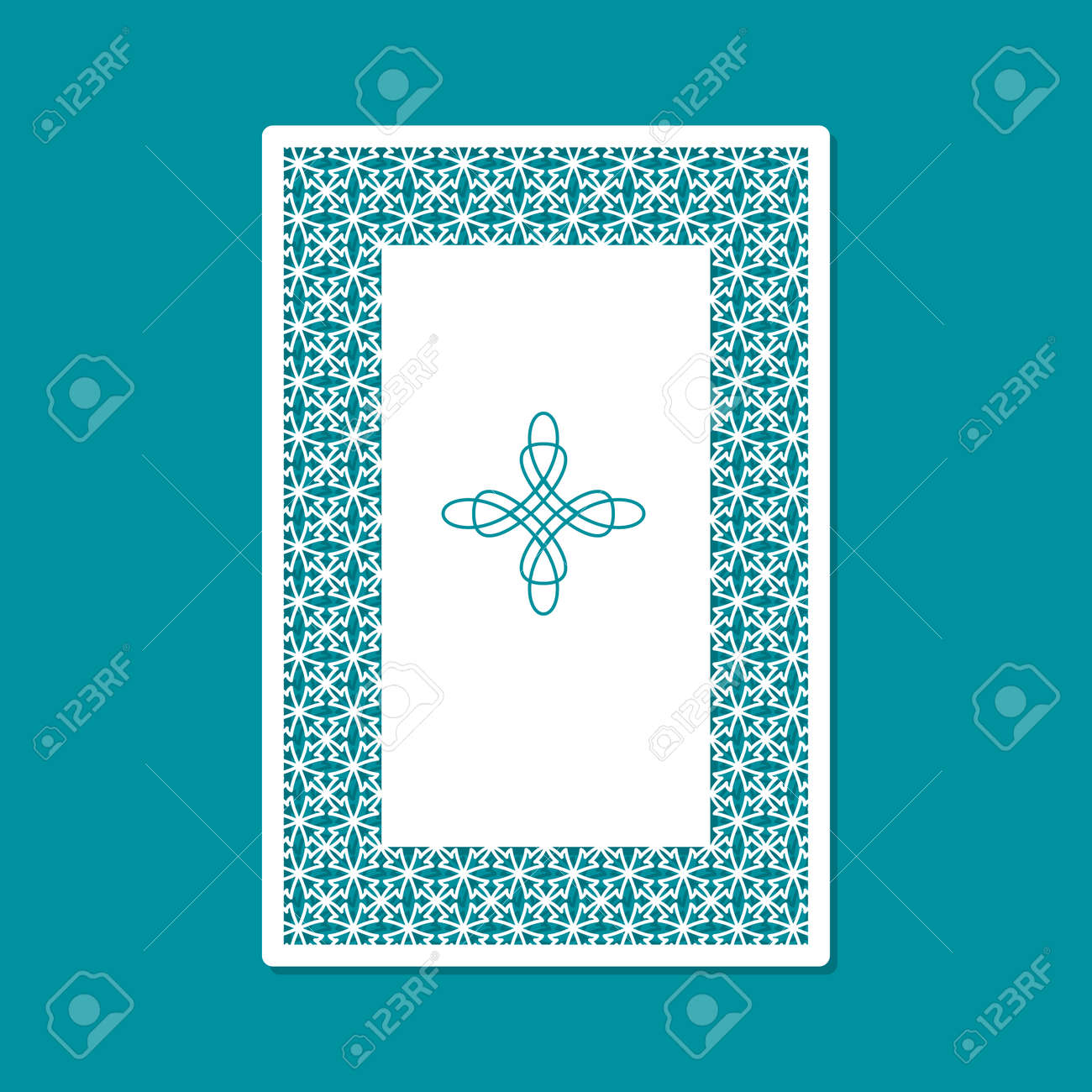 Laser Cutting And Printing Template Card For Greeting Cards