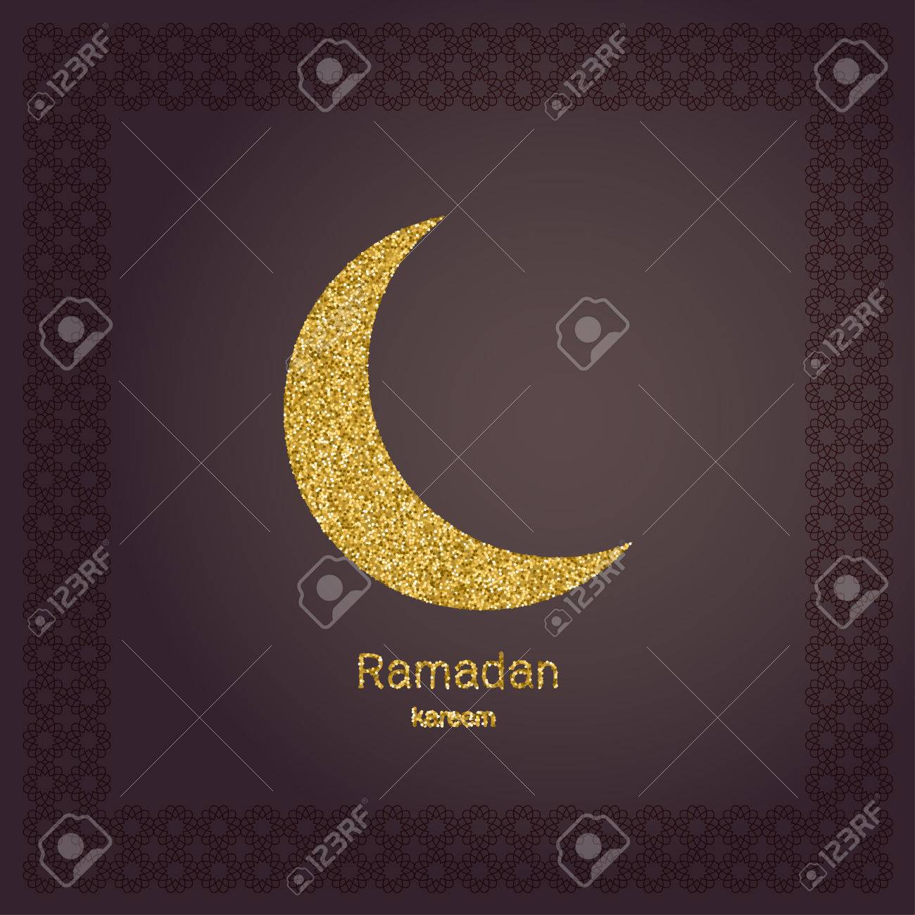 Ramadan kerim gold glitter moon template design for greeting ramadan kerim gold glitter moon template design for greeting card banner poster stopboris Images