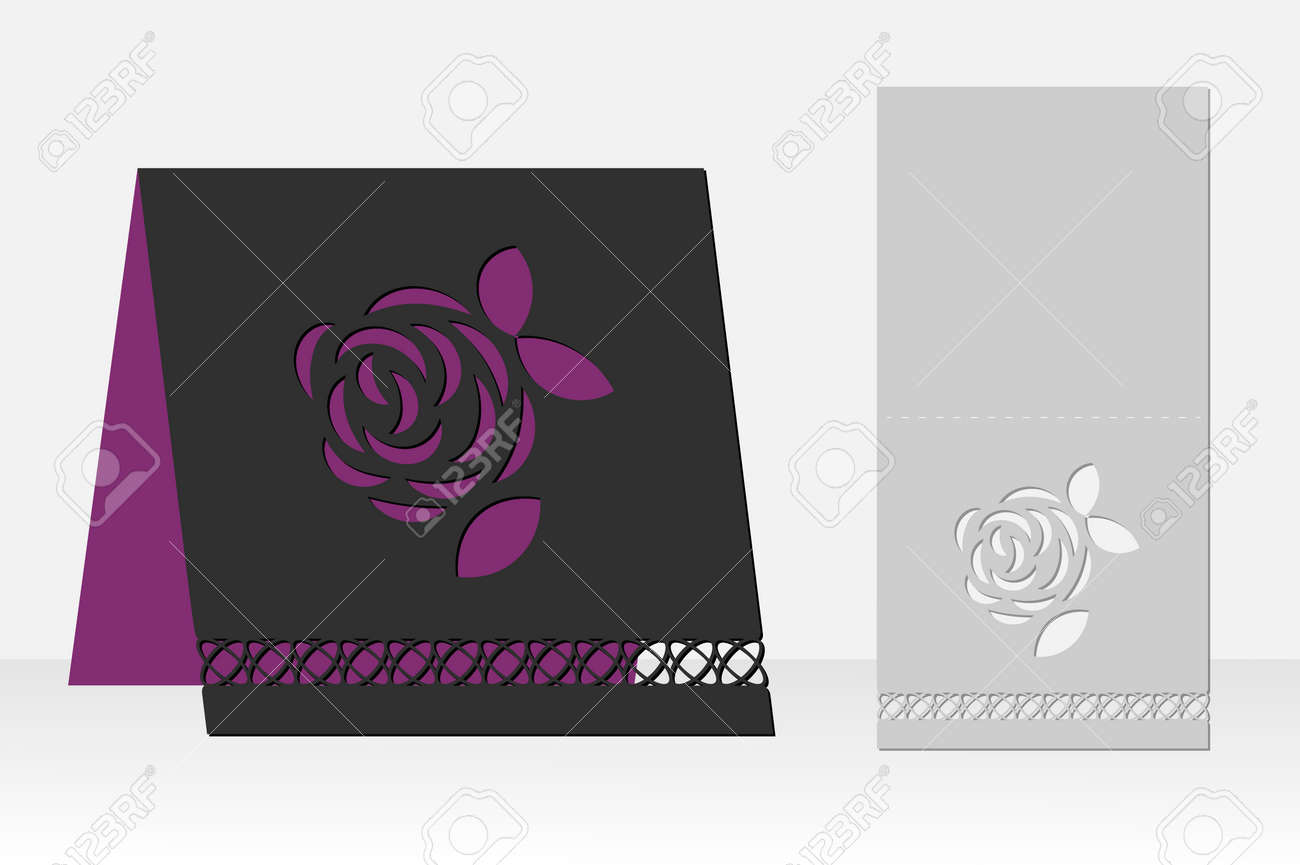 Greeting card with rose flower laser cutting silhouette design greeting card with rose flower laser cutting silhouette design it is possible to use m4hsunfo