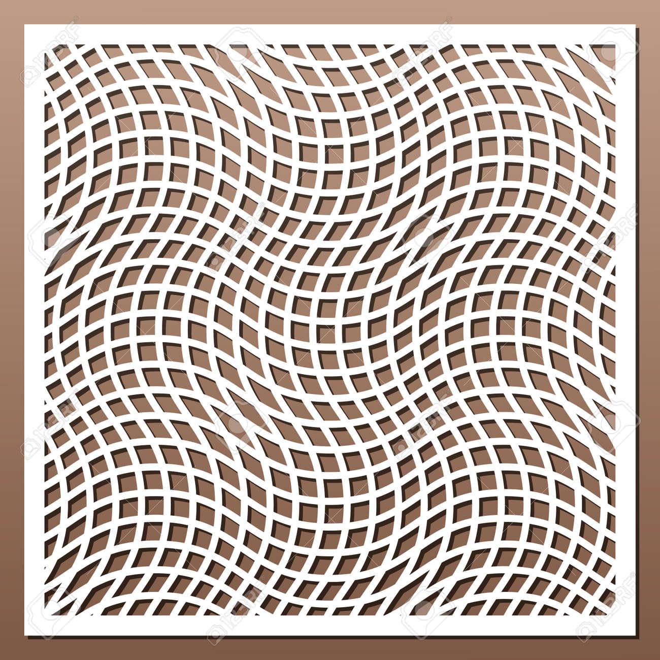 Geometric ornament template  card for laser cutting  decorative