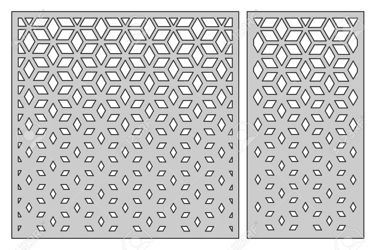 Set template for cutting. Square mesh pattern. Laser cut. - 93117705