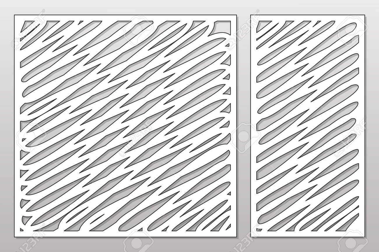Template For Cutting. Abstract Lines Art Pattern. Laser Cut ...