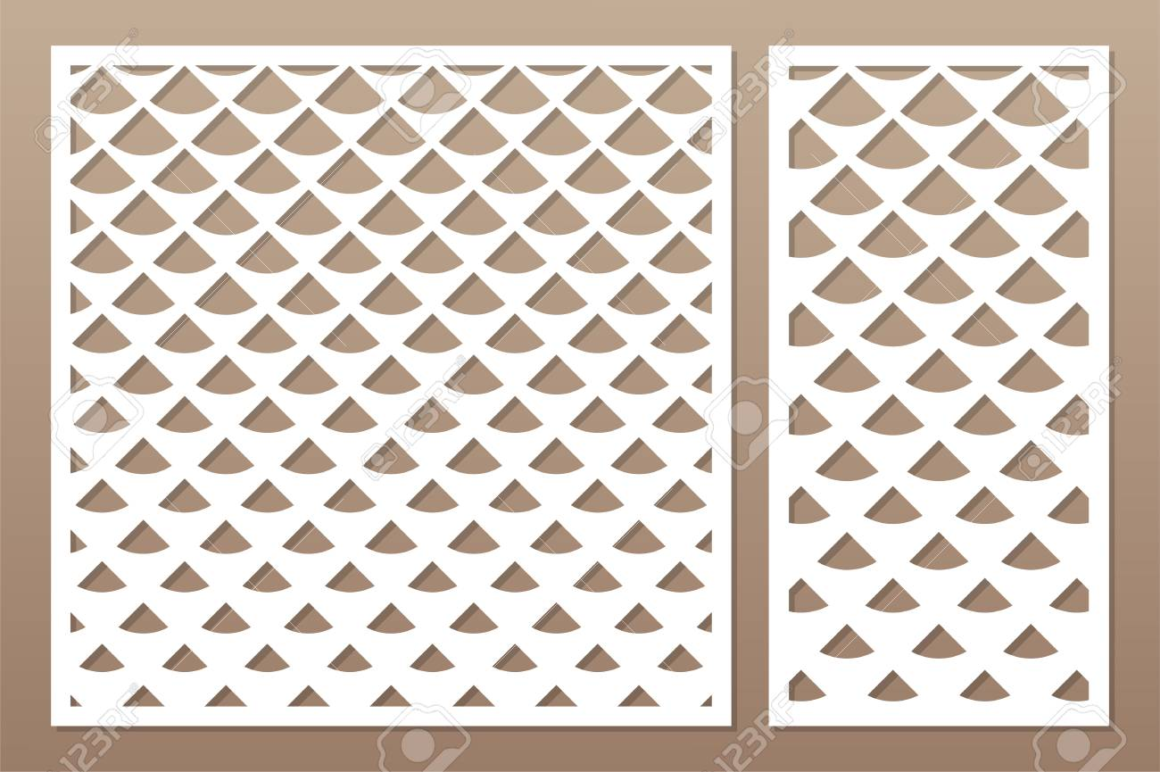 Decorative card set for cutting laser or plotter  Diagonal square