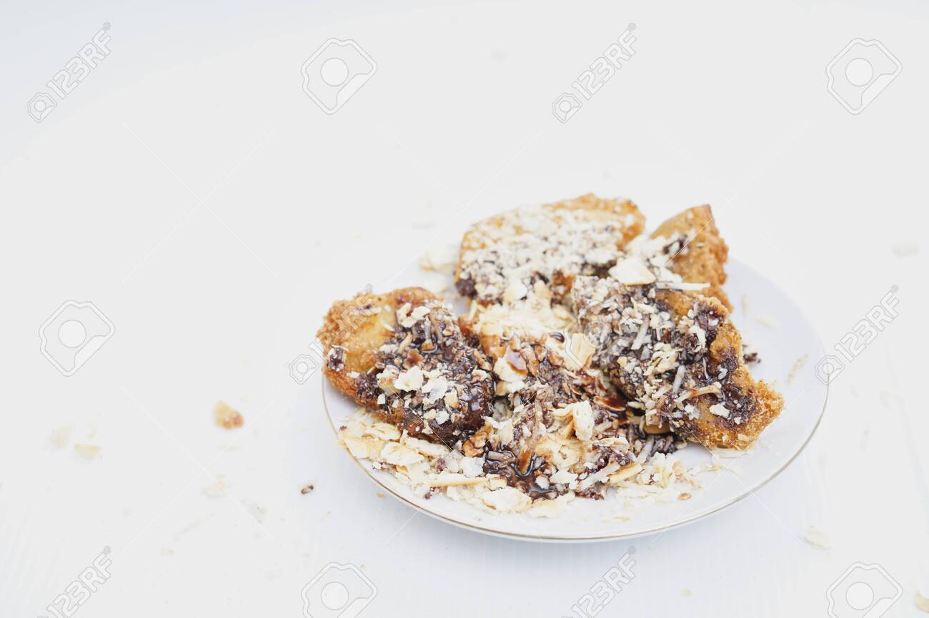Deep Fried Banana Fritters With Chocolate And Cheese Stock Photo Picture And Royalty Free Image Image 120271182