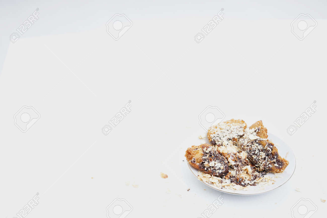 Deep Fried Banana Fritters With Chocolate And Cheese Stock Photo Picture And Royalty Free Image Image 120271184
