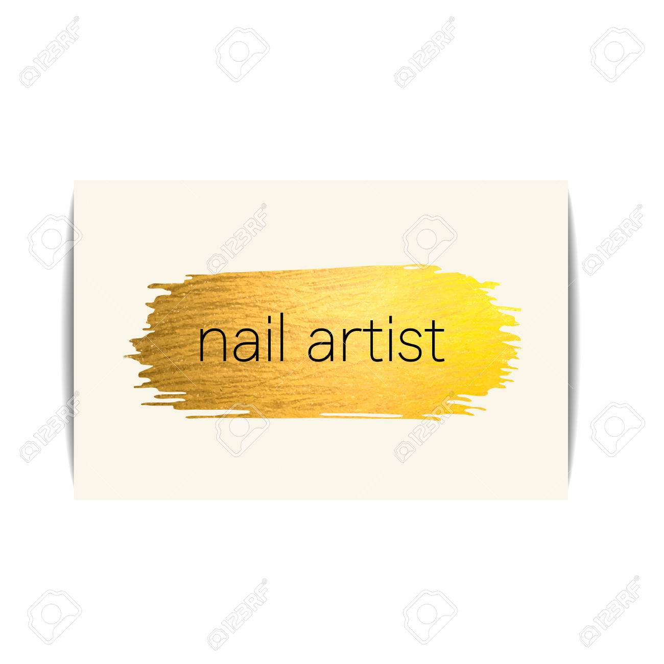 Nail Polish Business Card. Isolated Manicure Visit Card. Fashion ...