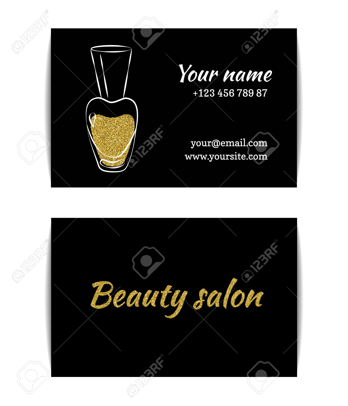 Nail polish business card isolated manicure visit card golden nail polish business card isolated manicure visit card golden glitter texture with shiny sparkles magicingreecefo Image collections