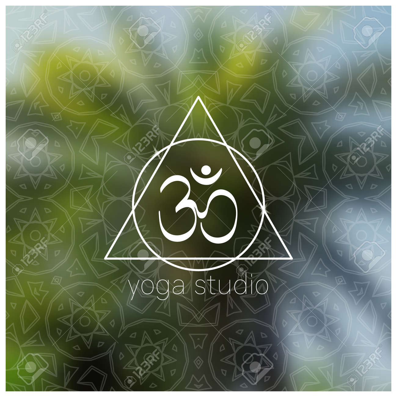 Tropical Yoga Banner With Om Symbol Sacred Geometry Mandala Royalty Free Cliparts Vectors And Stock Illustration Image 74112373