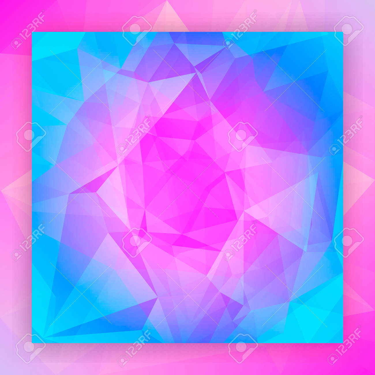 Abstract square triangle background  Tender smooth polygonal