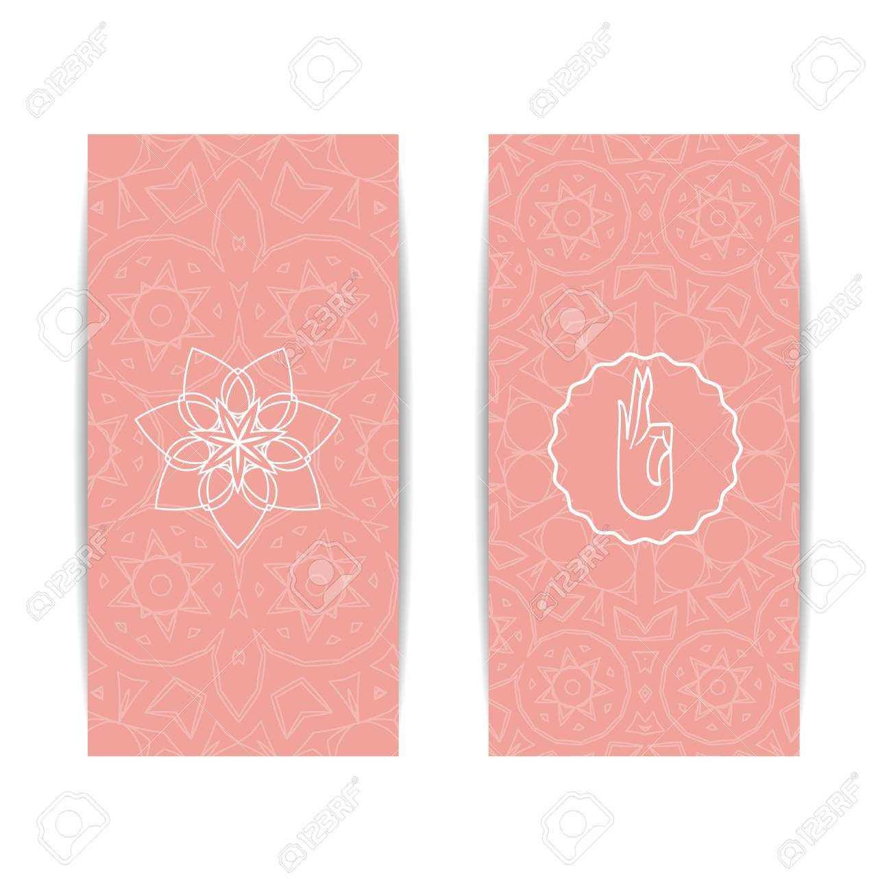 Yoga class template set of vertical pink flyers with chakra yoga class template set of vertical pink flyers with chakra and mandala symbols design stopboris Image collections