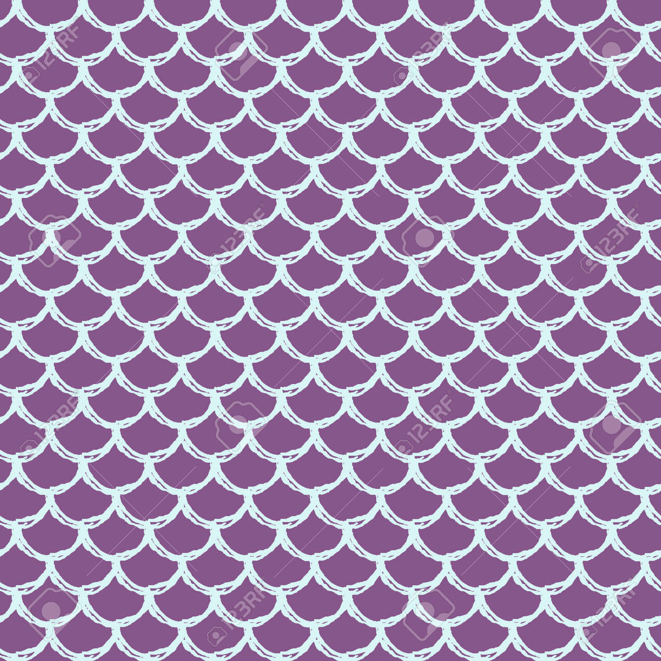 Mermaid Tail Seamless Pattern Fish Skin Texture Tillable Background