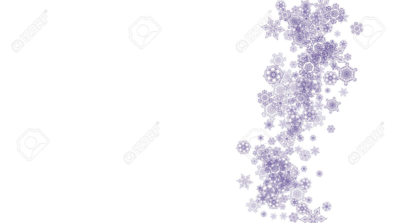snowflake border for flyer gift card party invite retail offer and ad christmas background with winter frame for holiday banner new year snowy backdrop