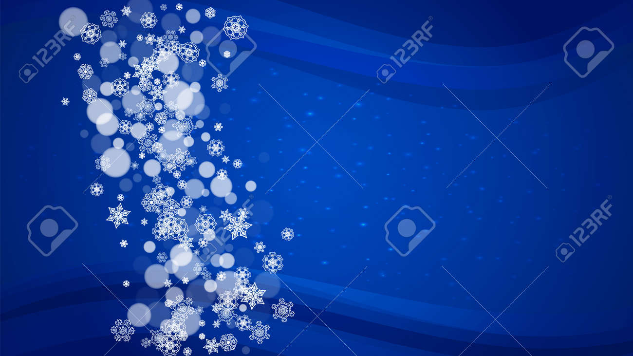 new year border on blue background horizontal winter theme christmas and new year border